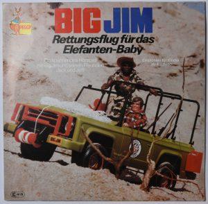 Big Jim - Rettungsflug für das Elefanten-Baby PEGGY 1977 Hörspiel LP