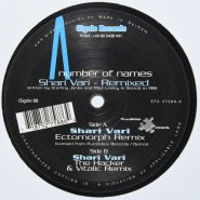 """A Number Of Names – Shari Vari - Remixed Gigolo Records 12"""" EX"""