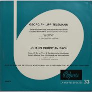 Telemann / J. Chr. Bach - Streichorchester & Cembalo Cembalo Opera LP