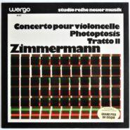 Zimmermann - Concerto Pour Violoncelle Studio Reihe Neuer Musik